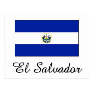 Carte Postale Conception de drapeau du Salvador