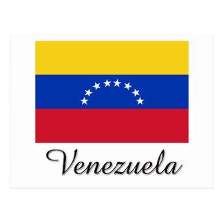 Carte Postale Conception de drapeau du Venezuela