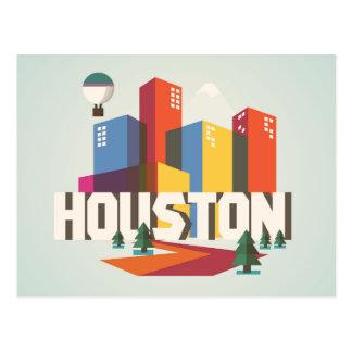 Carte Postale Conception de Houston, paysage urbain du Texas  