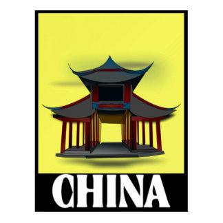 Carte Postale Conception de la Chine