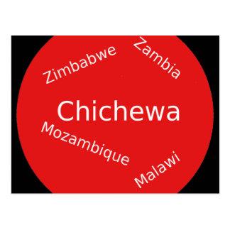 Carte Postale Conception de langue de Chichewa