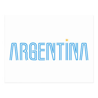 Carte Postale Conception de l'Argentine !