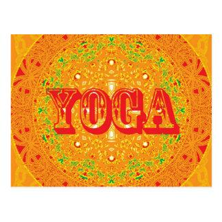 Carte Postale Conception de mandala de yoga