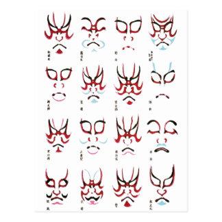 Carte Postale Conception de maquillage de Kabuki