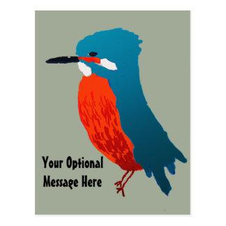 Carte Postale Conception de martin-pêcheur
