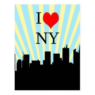 Carte Postale Conception de New York de coeur d'amour du cool I
