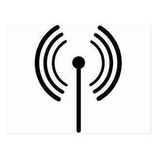 Carte Postale Conception de signal de WiFi