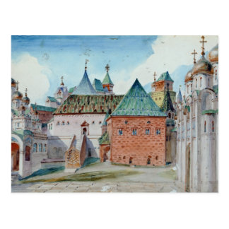 Carte Postale Conception d'étape pour l'opéra de Mussorgsky
