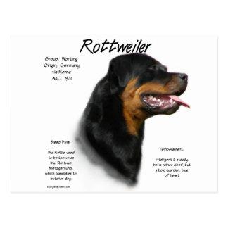 Carte Postale Conception d'histoire de rottweiler