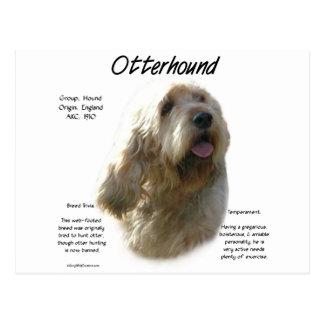 Carte Postale Conception d'histoire d'Otterhound