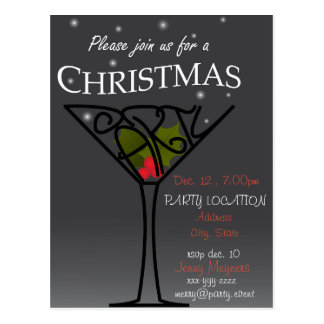 Carte Postale Conception d'invitation de fête de Noël