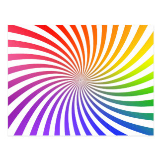 Carte Postale Conception en spirale colorée :