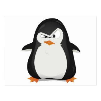 Carte Postale Conception fâchée de pingouin