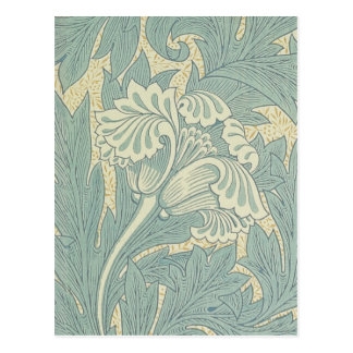 Carte Postale Conception florale de tulipe vintage de William