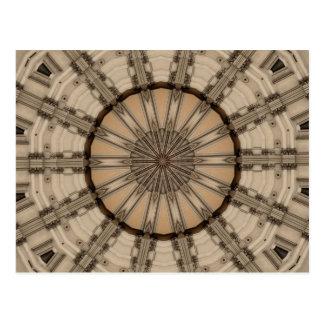 Carte Postale Conception graphique de kaléidoscope romain d'art