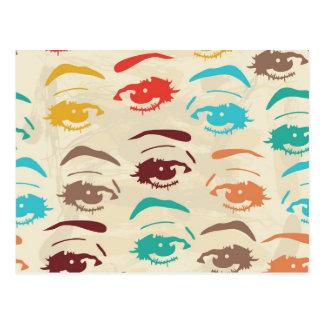 Carte Postale Conception graphique de yeux géniaux