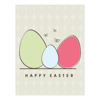 Carte Postale Conception heureuse de Pâques avec les oeufs