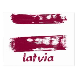 Carte Postale Conception letton de drapeau