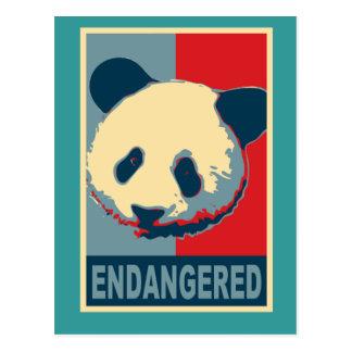 Carte Postale Conception mise en danger d'art de bruit de panda