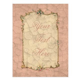 Carte Postale Conception nuptiale rose douce
