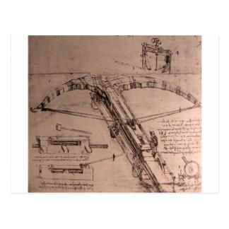 Carte Postale Conception pour une énorme arbalète
