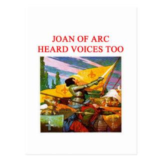 Carte Postale conception psychopathe de voix de Jeanne d'Arc