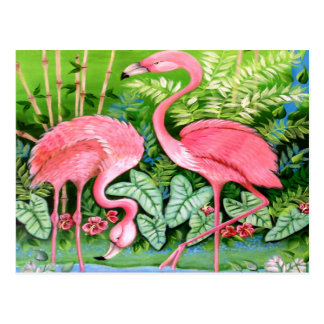 Carte Postale Conception rose de flamants