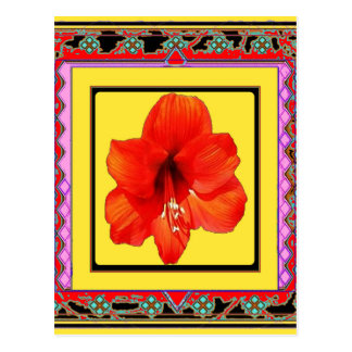 Carte Postale Conception Rouge-Jaune d'amaryllis occidentale