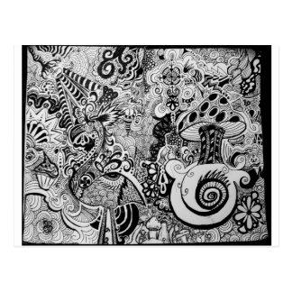 Carte Postale Conception Trippy d'art