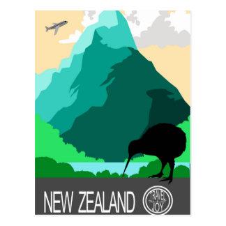 Carte Postale Conception vintage de la Nouvelle Zélande