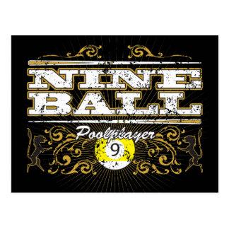 Carte Postale Conception vintage de neuf boules