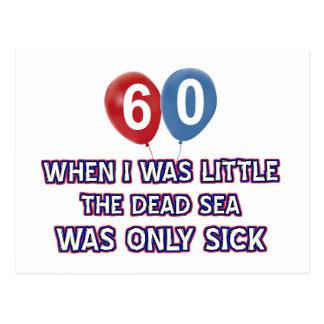 Carte Postale conceptions 60 an d'anniversaire de mer morte