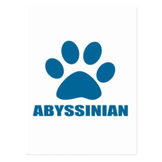 CARTE POSTALE CONCEPTIONS ABYSSINIENNES DE CAT