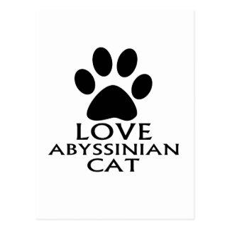 CARTE POSTALE CONCEPTIONS ABYSSINIENNES DE CAT D'AMOUR