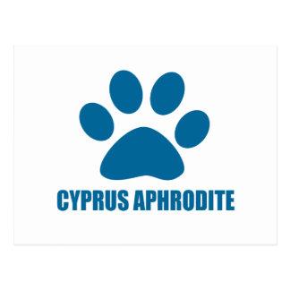 CARTE POSTALE CONCEPTIONS DE CAT D'APHRODITE DE LA CHYPRE