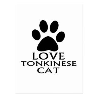 CARTE POSTALE CONCEPTIONS DE CAT DE L'AMOUR TONKINESE