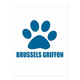 CARTE POSTALE CONCEPTIONS DE CHIEN DE GRIFFON DE BRUXELLES