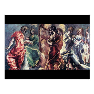 Carte Postale Concert angélique par El Greco (Theotokopoulos)