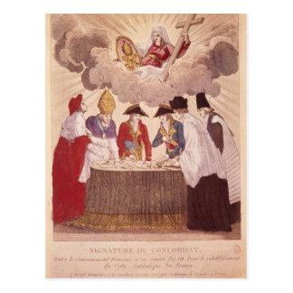 Carte Postale Concordat entre le napoléon et le pape Pius VII