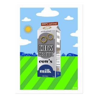 Carte postale concrète du lait de vache à Mk par