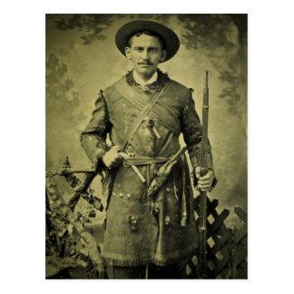 Carte Postale Confédéré antique Tintype de soldat de guerre