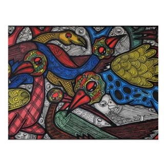 Carte Postale Conférence d'oiseau