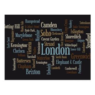 Carte Postale Configuration de texte de Londres