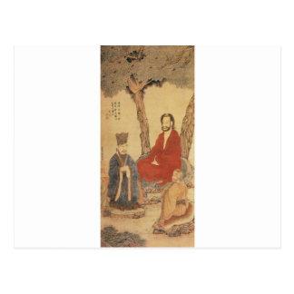 Carte Postale Confucius, le Laotien-tzu et Arhat bouddhiste