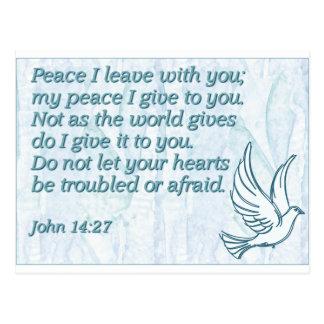 Carte Postale Congé de la paix I avec vous ; ma paix que je vous