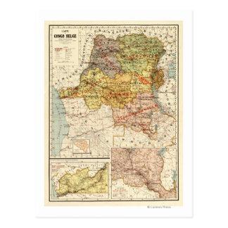 Carte Postale CongoPanoramic MapCongo