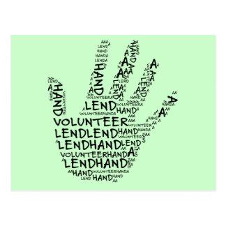 Carte Postale Conscience volontaire : Prêtez un coup de main