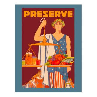 Carte Postale Conserve