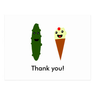 Carte Postale Conserves au vinaigre et crème glacée : Merci !