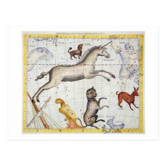 Carte Postale Constellation de Monoceros avec le commandant de